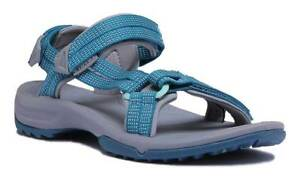 22f58f9baaaa Teva Terra Fi Lite Women Other Fabric Blue Grey Strappy Sandals Size ...