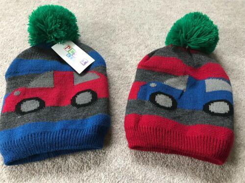 New Boys Disney Winter Bobble Trapper Hat Cars Minions Warm Fleece Ski Hat 0-10+