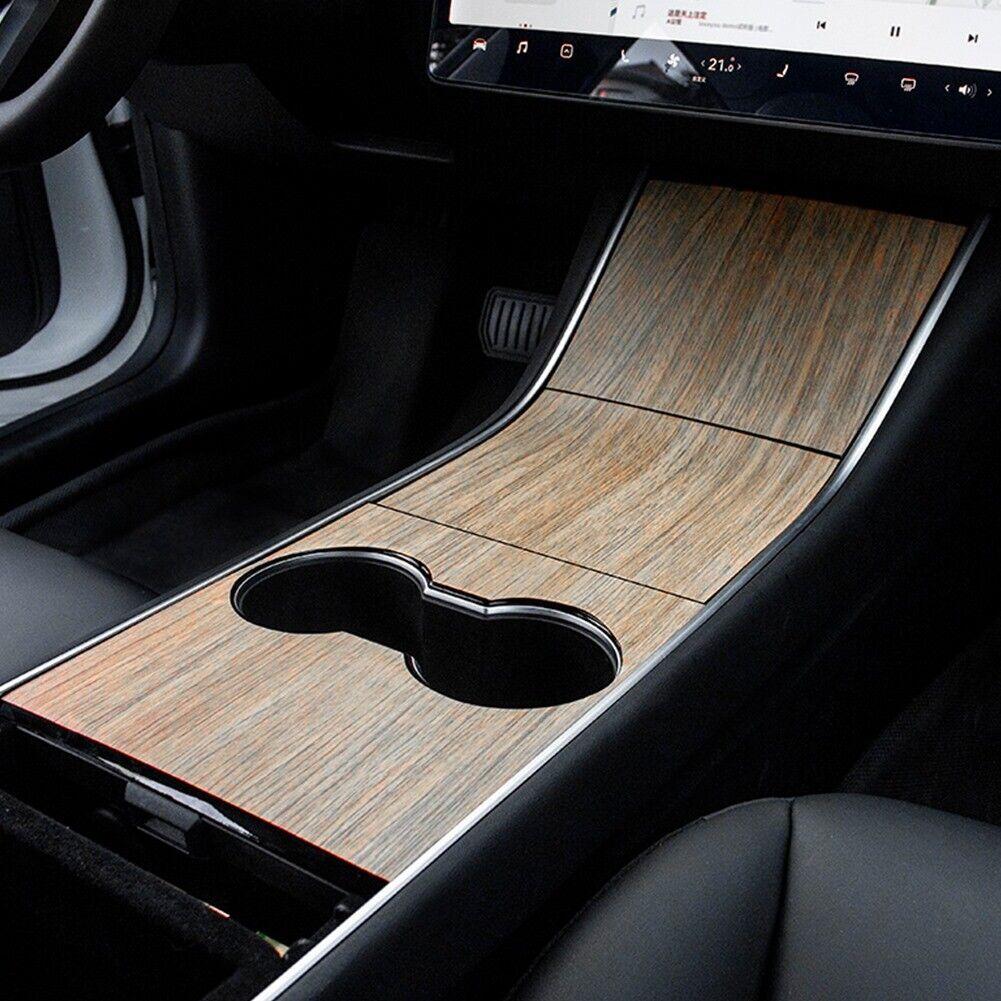 Kohlefaser Muster Model 3 Mittelkonsole Folie Aufkleber Verdicken Tesla Model 3 zubeh/ör TOPOWN Mittelkonsole Wraps Kits f/ür Tesla Model 3