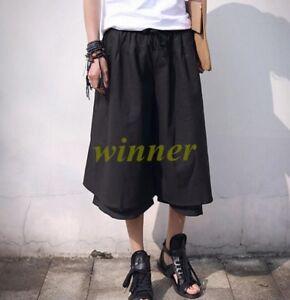 6ec975ef50a6 Details about Japanese Mens Samurai Pants Trousers Hakama Boho Harem Skirts  Linen Summer 2018