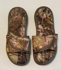 d850a4720b9d Buy Girls Under Armour Ignite VII Brown Camo Slide Sandals Size 2 Y ...