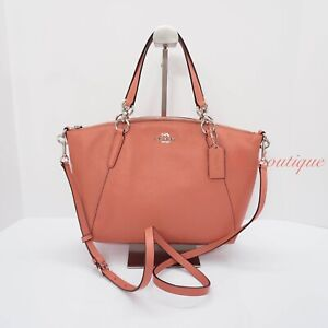 c2007da80 Image is loading NWT-Coach-F28993-Small-Kelsey-Satchel-Pebble-Leather-