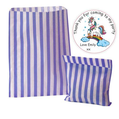 Sweet Cône Seals Filles Personnalisé Unicorn Party Stickers Merci Sac De Fête