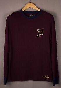 POLO-RALPH-LAUREN-Men-Casual-Henley-Jumper-Sweater-Size-M-ATZ1092