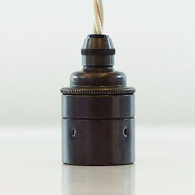 Vintage Fassung, Messingfassung E27 Bronze Antik