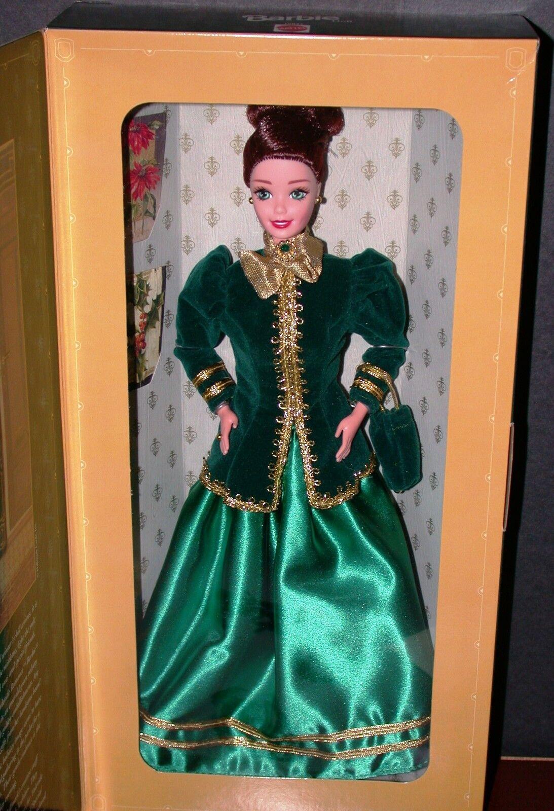 1996 Yuletide Romance Barbie Hallmark Special Edition Victorian Dress 15621