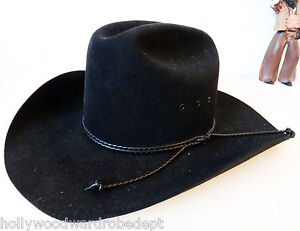 71bb60162faeb RESISTOL cowboy hat black beaver 4X LONG oval self conforming size 7 ...