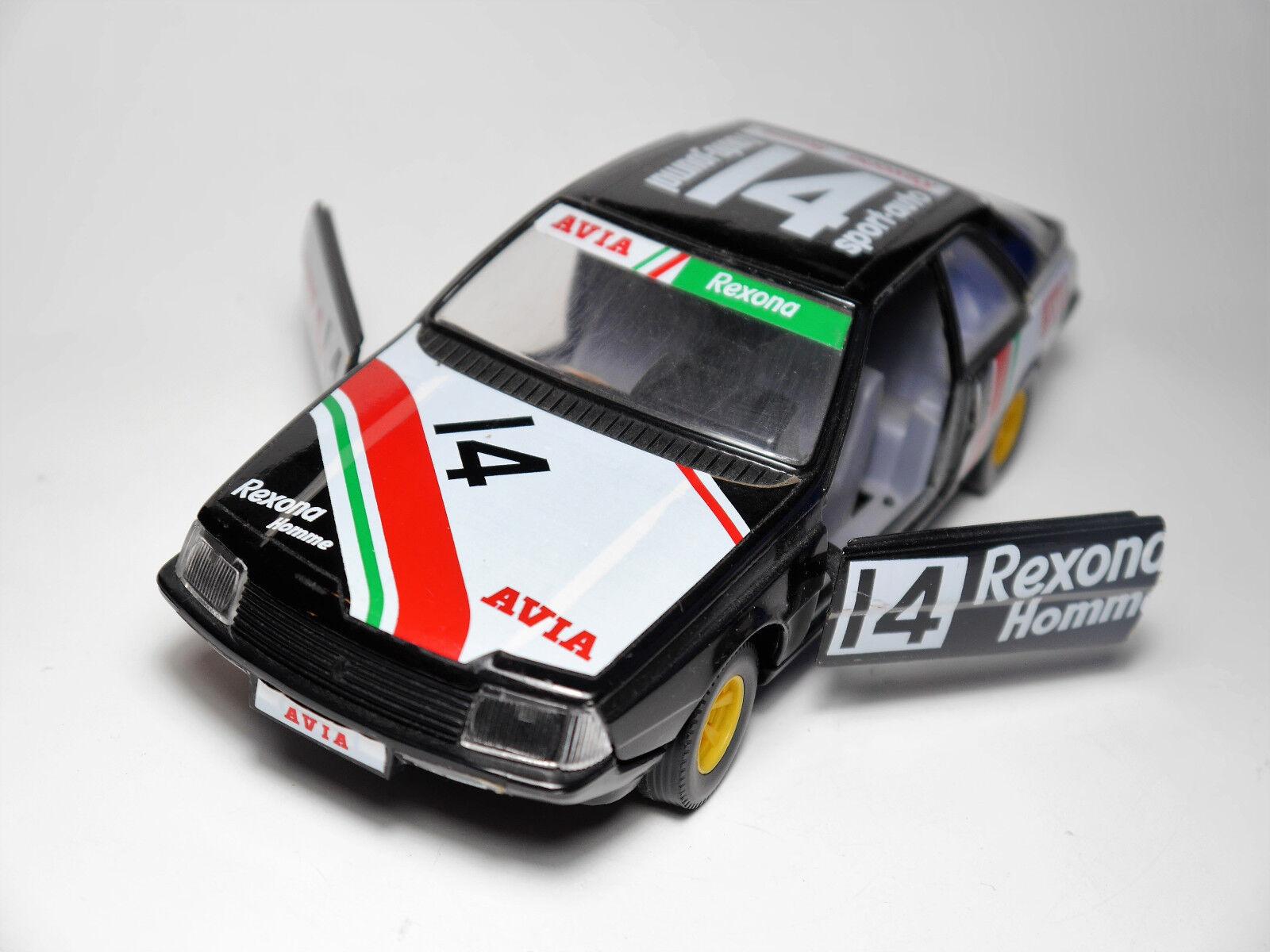 Renault Fuego rally rallye racing car  AVIA REXONA homme   14, Bburago en 1 24