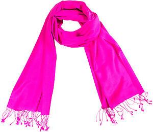 Un-Pashmina-etole-de-brillant-rose-echarpe-70-Cashmere-30-Soie-Silk-Stole-71x198cm