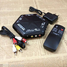 4 Way Audio Video AV RCA Switch Multi Box Composite Selector With Remote-control