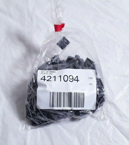 Genuine New LEGO Pièces//parts 4211094 3022 gris foncé plaque 2x2 x100 PC