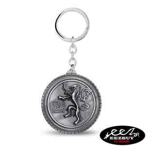HBO-Game-of-Thrones-Lannister-Casterly-Rock-3D-Keyring-Keychain-Silver-Color
