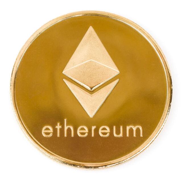 Ethereum ETH Challenge Coin 24k Gold Plated Good Luck Souvenir Golf Ball Marker
