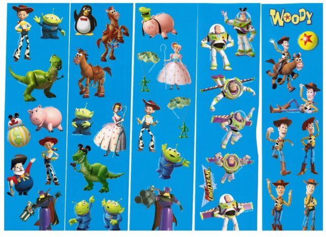 Disney Toy Story 5 Sheets Scrapbook Stickers Buzz Lightyear Woody