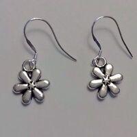 Perfect Peaceful Sterling Silver Daisy Flower Dangle Earrings Gift Women Bb
