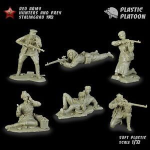 Soldatini di Plastic Platoon  Cecchini sovieti   La seconda guerra mondiale 1/32