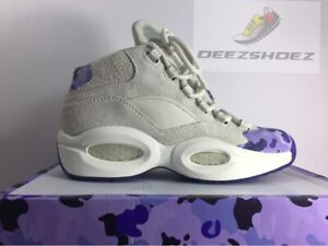 6da82d8236596d Image is loading Reebok-Question-Mid-Camron-Beige-Purple-Basketball-Shoes-