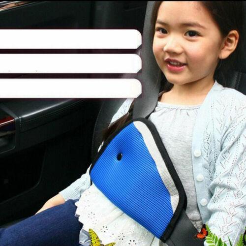 Car Child Safety Cover Harness Strap Adjuster Pad Kids Mesh Seat Belt Clip
