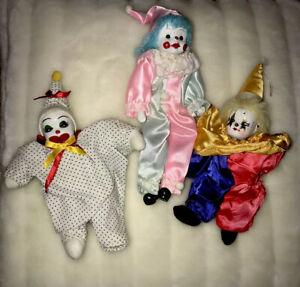 3-Pcs-Clown-Porcelain-Face-Hands-and-Feet-Doll-Bendable-Vintage