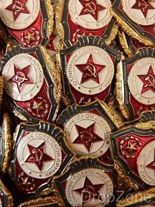 5-X-Russisch-USSR-Sowjetisch-Militaer-Armee-Uschanka-Anstecker-Best-Of-Unit-Boden