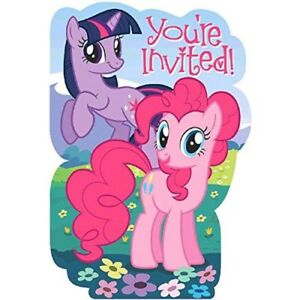 8 my little pony friendship birthday party invitations invites plus image is loading 8 my little pony friendship birthday party invitations filmwisefo