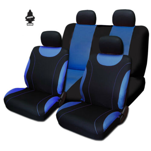 For Chevrolet New Black and Blue Cloth Car Truck Seat Covers With Gift Full Set