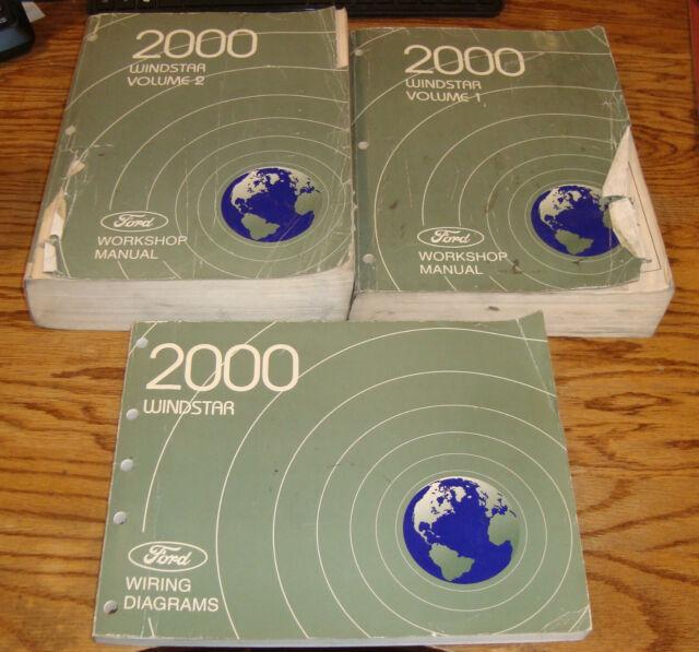 2000 Ford Windstar Shop Service Manual Volume 1  U0026 2