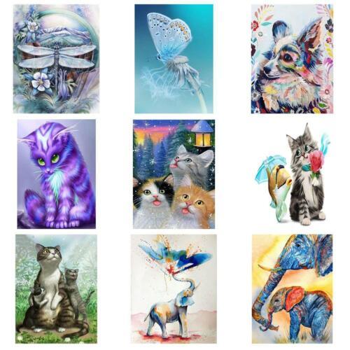 5D hágalo usted mismo Taladro Completo Pintura De Diamante Kit de Artesanía Mosaico bordado de Animal Decoración del hogar