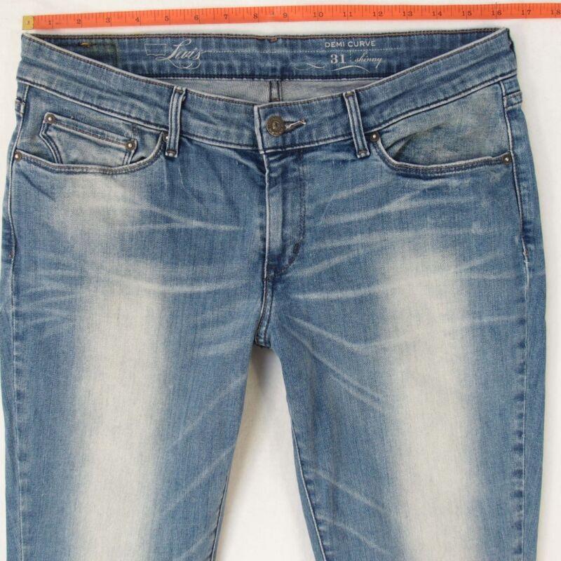 NUOVI Sandali Donna Slim Fit Jeans attillati da donna COLOR pants PANTALONE STRETCH Jean 6-14