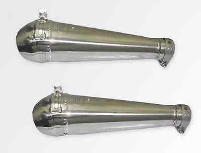 YAMAHA MT 01 2005-2008 ENDY GP PRO DUAL SILENCER EXHAUST STAINLESS