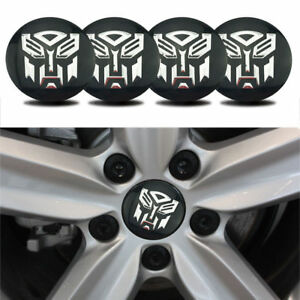 4 x Transformers Logo Car Wheel Center Hub Caps Emblem Sticker Decal For Chevy