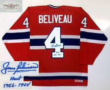 JEAN BELIVEAU SIGNED MONTREAL CANADIENS JERSEY JSA HART