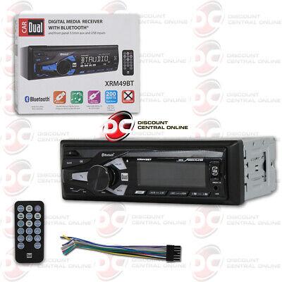 DUAL XRM47BT CAR MP3 AM//FM DIGITAL MEDIA STEREO W// USB AUX IN /& BLUETOOTH