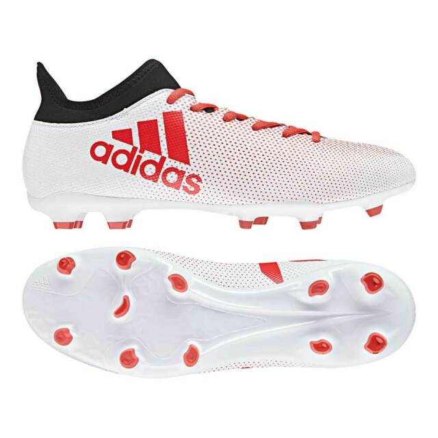 Adidas x 17.3 Fg 41 46 Calcio Ditta Ground Rasenplatz Bianco Rosso CP9192 Nuovo