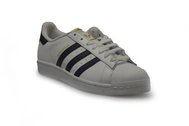 Da Uomo Adidas Adidas Uomo Superstar-ba8493-Bianco Blu Scarpe Da Ginnastica 9affe2