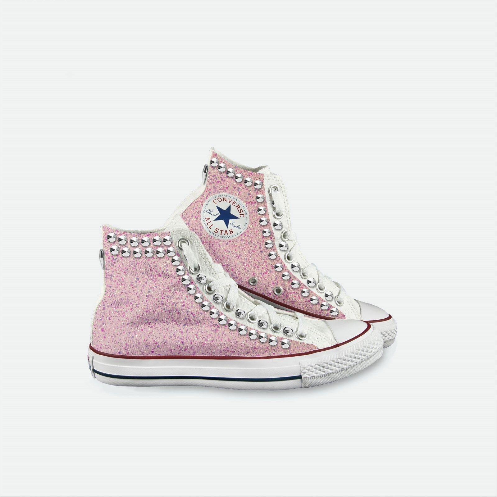 converse rosa all star bianca pers con glitter grosso rosa converse pallido e borchie e4c2a4