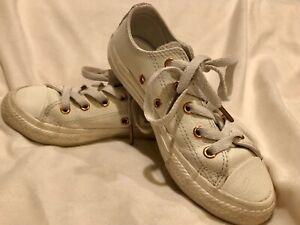Dettagli su Converse ALL STAR LEATHER OX AVORIO Scarpe da ginnastica 358414C Youth Taglia 12- mostra il titolo originale