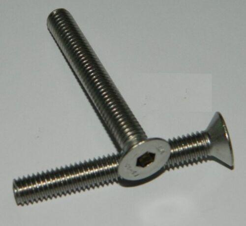 25 Edelstahl Senkkopf-Schrauben  M8x25  DIN7991  VA V2A