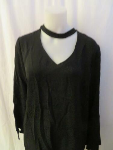 Blouse Sleeve Neckline Choker Long L Black Drew Womens wqXYxT8Rn