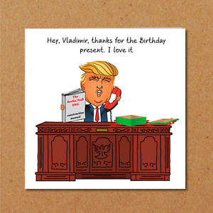 Image Is Loading Donald Trump Birthday Card Wall Mexico Vladimir Putin