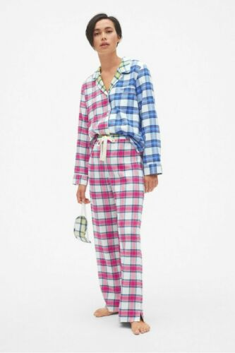 Flanelle Pyjama Set Avec Masque Yeux Taille M 12-14 Bnwt Mesdames Pyjamas