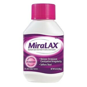MiraLAX Osmotic Laxative Unflavored Powder Constipation Relief 8.3 oz