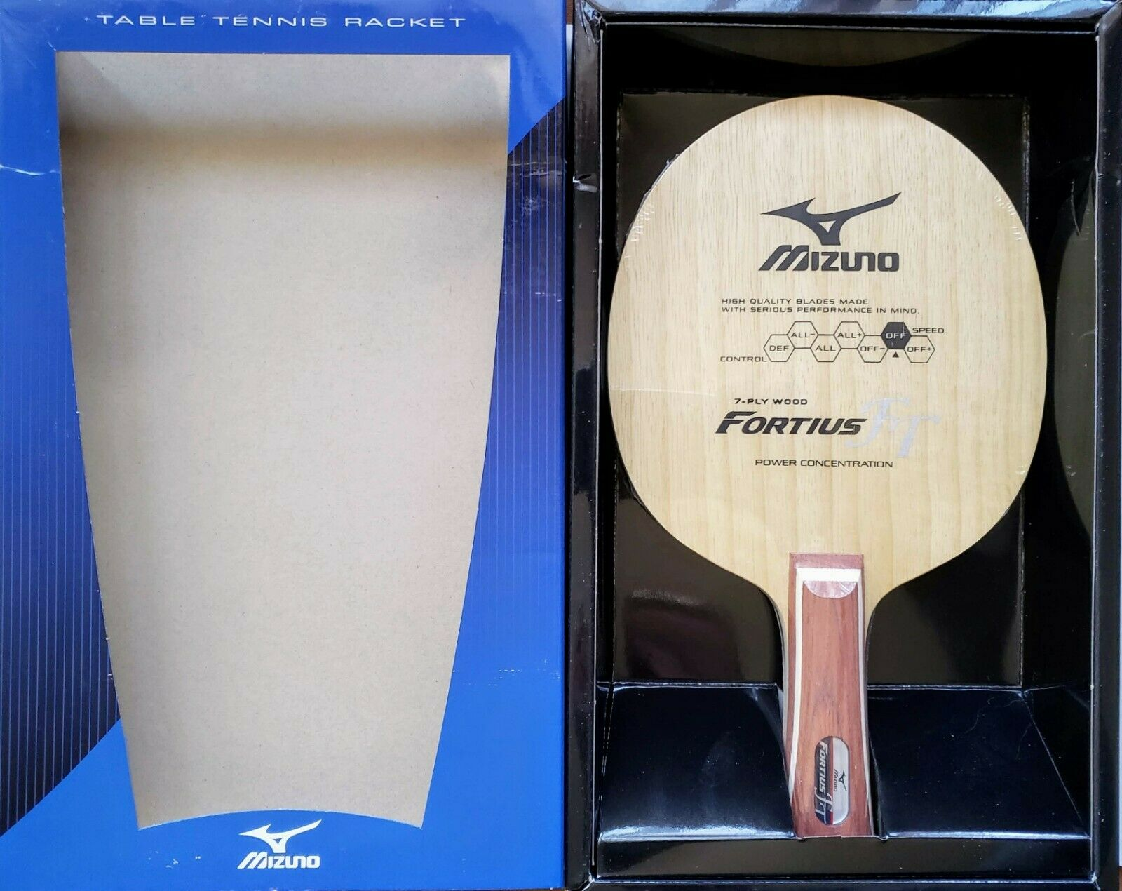 Mizuno Fortius FT Fine Touch (OFF) 7 Ply 92 Grams TABLE TENNIS BLADE  FL