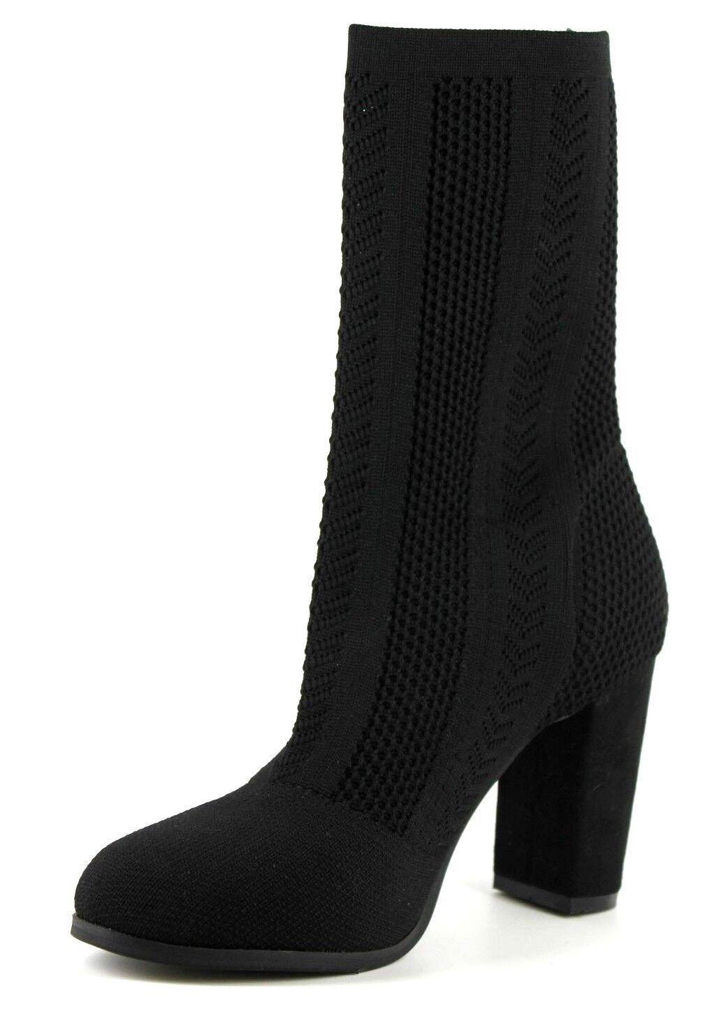 Wallis Wallis Wallis Artist Womens UK 5 EU 38 Black High Block Heel Textile Mid Calf Boots 0dd6e2