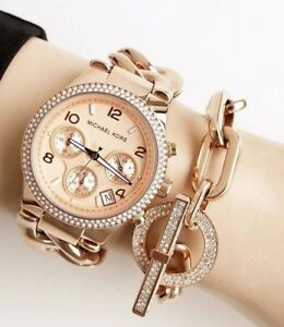 Details about Michael Kors Womens MK3247 Runway Twist Chronograph