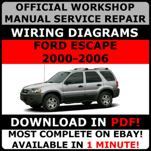 OFFICIAL WORKSHOP Service Repair MANUAL FORD ESCAPE 2000-2006 + ...