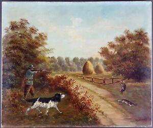 Ancien-Tableau-Louis-Babelay-XIXe-XXe-Peinture-Huile-Antique-Oil-Painting
