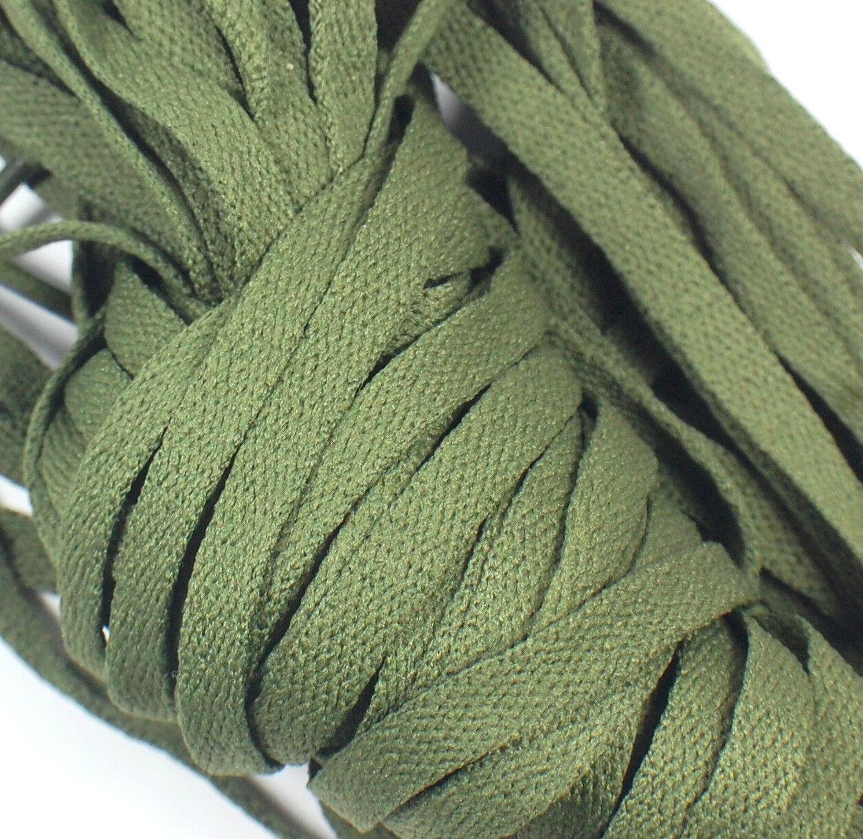 1 Pair Set Olive Drab Army Shoelaces
