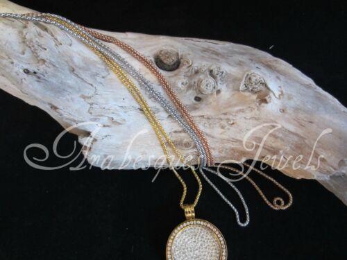 Original Sterlina mi Milano 24 Pulgadas 60cm necklace//chain para coin//moneda keeper//locket