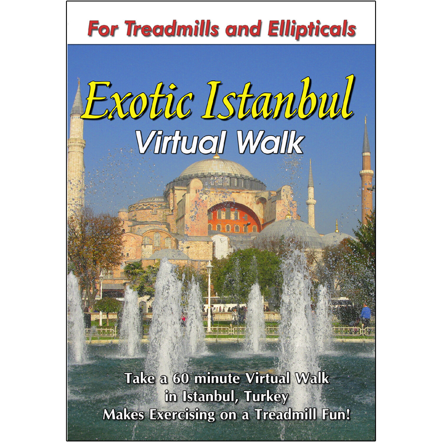 ISTANBUL WALKING TOUR TREADMILL DVD SCENERY VIDEO EXERCISE FITNESS WEIGHT LOSS Reviews